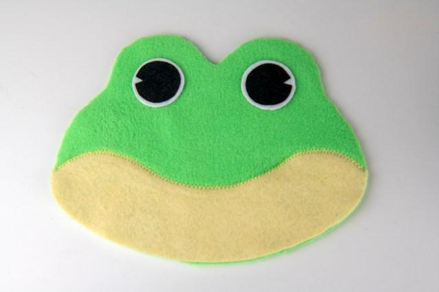 frog bean bag eye placement