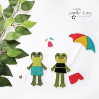 Introducing Frog Felt Dolls with HeatnBond Fusible Interfacing