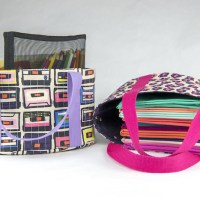 Mom and Me Mini Pouch Totes with HeatnBond Fusible Fleece