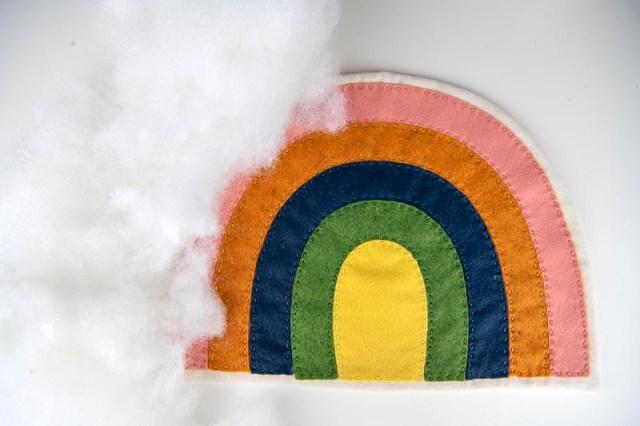 rainbow softie step 8