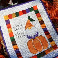 Sew a Happy Fall! Gnome Mini Quilt