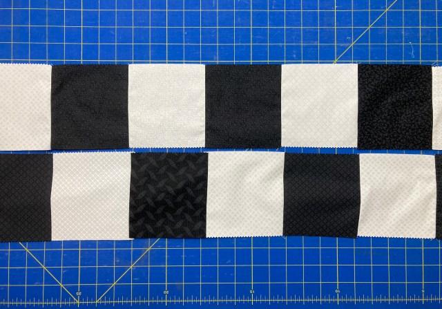 Checkerboard rows