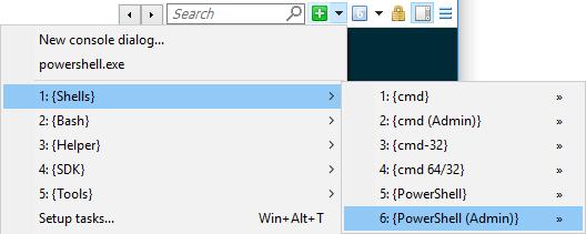ConEmu Auto-discovered tasks