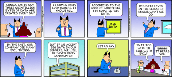 Big data dilbert