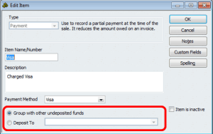 Creating Payment Items
