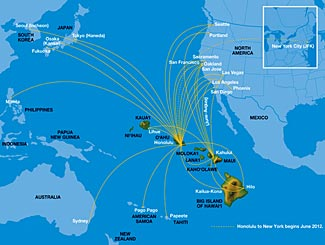 How hawaiian airlines is redefining itself the travel insider the growing network of hawaiian airlines services all across the pacific is shown in its route map to which must already be added its latest announced new sciox Images