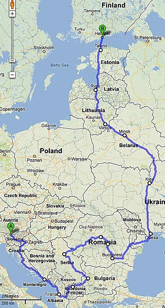 Our approximate tour path.