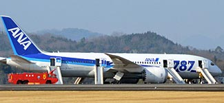 The last straw that broke the camel's back.  The ANA 787 after its emergency landing on Wednesday.