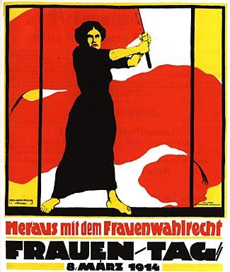 A 1914 International Women's Day poster from Germany.