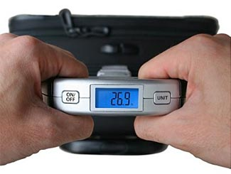 An easy way to check your bag's weight prior to heading to the airport.