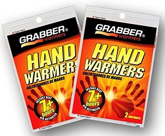 We recommend the 7+ hour Grabber brand hand warmers as being the best for most purposes.