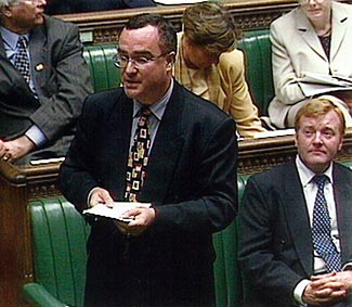 Paul addressing the House of Commons during a debate.