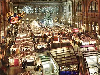 Zurich has Europe's largest indoor Christmas market.