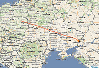 A Bee-line to a disaster.  The last part of the flight of MH17 yesterday.