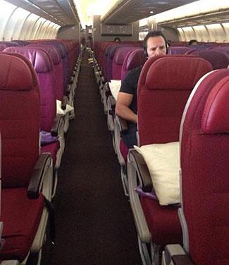 A near empty MH flight, last week.