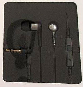 The Beyerdynamic MMX102ie earphones in the box they come with.
