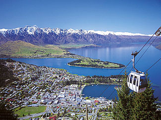 Beautiful Queenstown, NZ's most popular and beautiful tourist region.