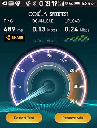 T-Mobile's slow international data service is sometimes faster than promised.