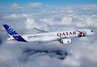 The new Airbus A350 has now entered commercial service, first with Qatar Airways.