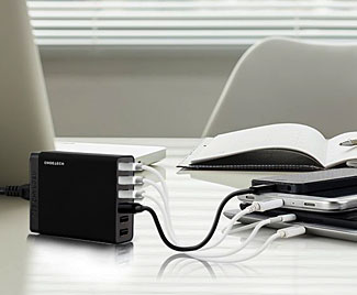 The six port Choetech high speed USB charger.