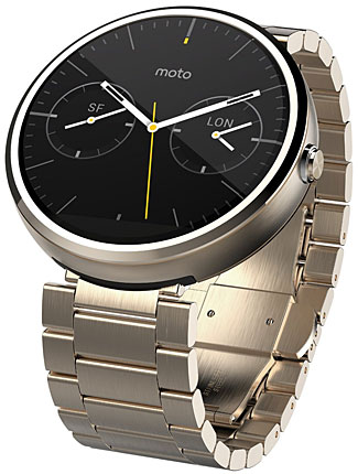 The Moto 360 watch at least looks like a decent watch.