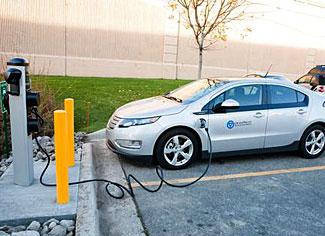 Recharging an electric car - sometimes more costly than buying gas.