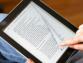 The traditional book reading experience is increasingly being recreated on eBook readers.