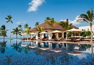 There's no need to rough it in Tanzania, which has splendid five star resorts (pictured - The Residence in Zanzibar).