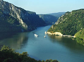Sometimes crowded, but not always, this shows you the Danube in the 'Iron Gates' region.