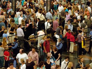 Get ready for the threat of multi-hour waits before your next flight.
