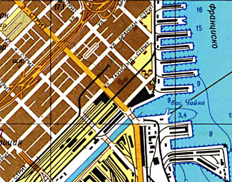 Look carefully, and you'll note this very detailed map of San Francisco is in Russian.  See last item....