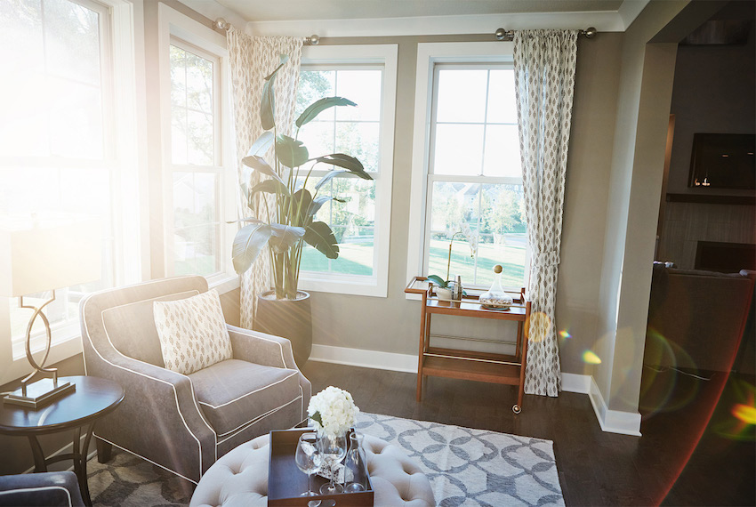 spring decorating with sunlight