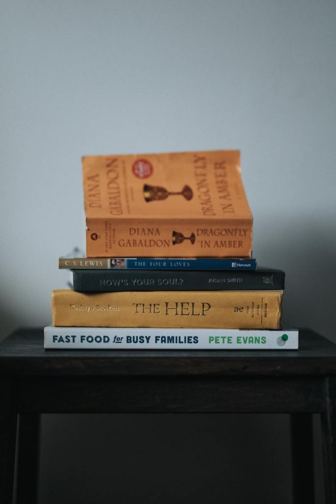 stack of books for virtual connection