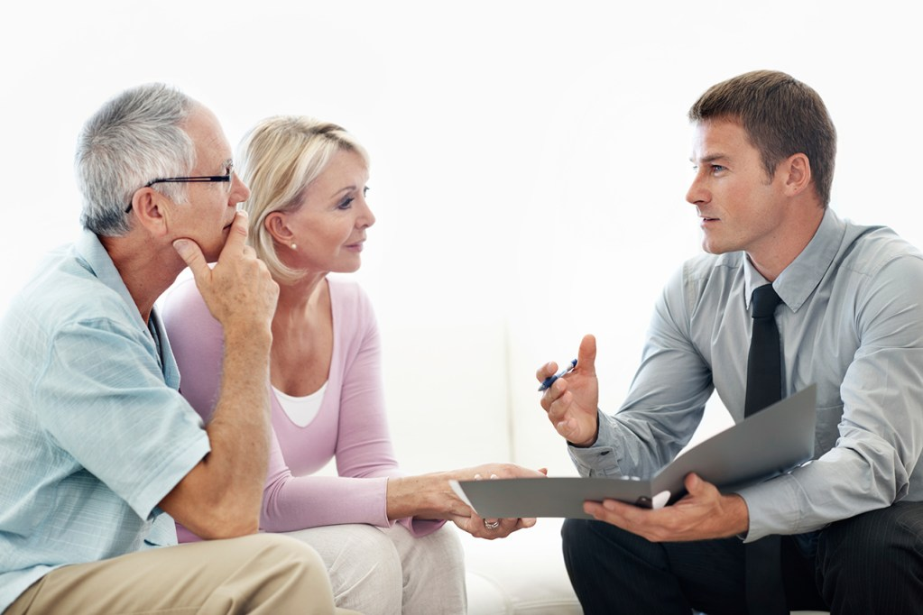 seniors talking with a lender