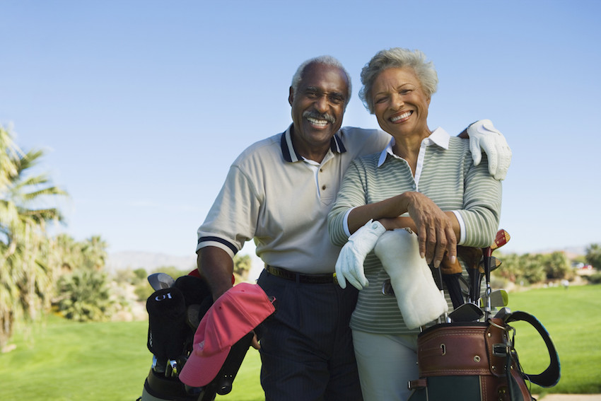 a couple living on the golf course