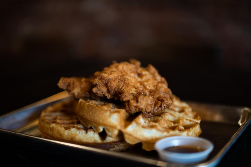 Chicken and waffles takeout