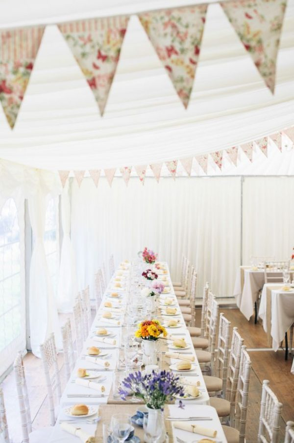 marquee wedding decorations bunting