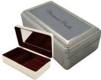 Beaded Silver Jewlery Box