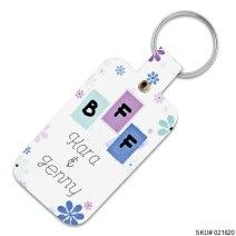 BFF Leather Keychain