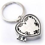 Triple Locket Heart Key Chain