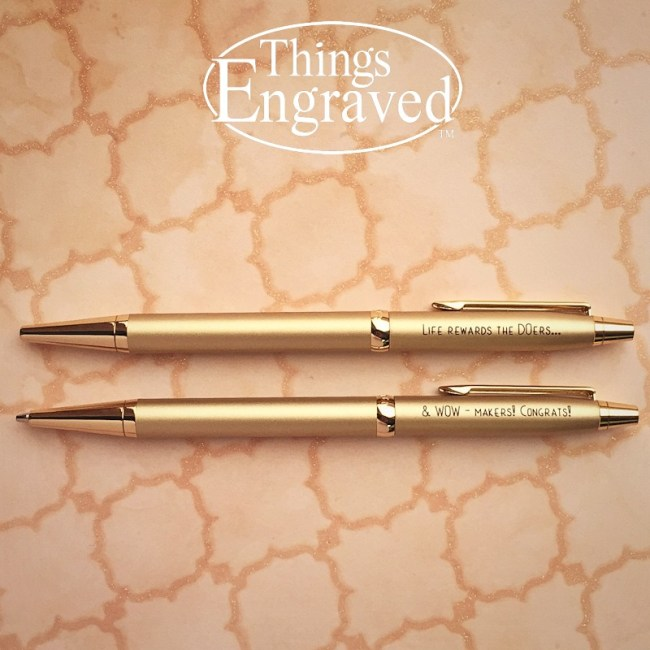 Things Engraved Cadence Pen Set