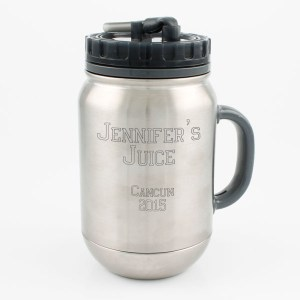 26oz Stainless Steel Water Bottle Mug with Straw