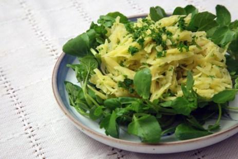 Oca and watercress salad