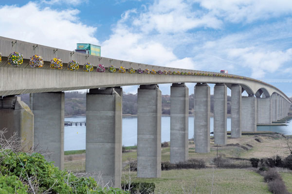 Orwell Bridge in bloom