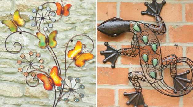 Wall art adds a designer touch to your garden