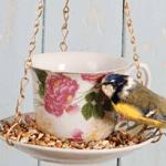 Crockery Teacup & Saucer Bird Feeder