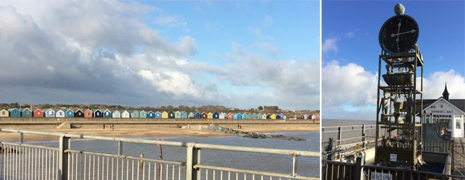 The beach huts at Southwold, Suffolk and David's new water feature idea