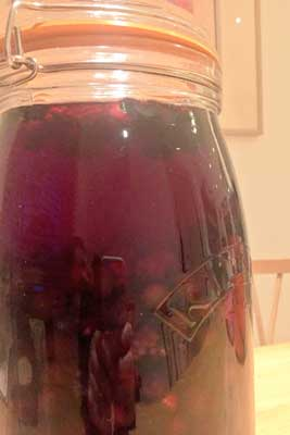 sloe gin almost ready!