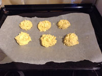 parsnip scones - ready to bake