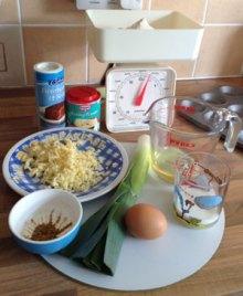 Leek muffins - ingredients